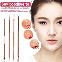 Wholesale Set Acne Needle Blackhead Remover Tool Double ended Stainless Steel Face Skin Pimple Comedone Needle Facial Cleaning Tool