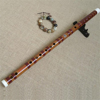 bamboo musical instrument - LQP007 professional concert grade Chinese Bamboo flute Dizi red wire copper joint handmake Bass G A b BKey C D E F G A musical instruments