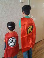 Wholesale freeshipping superhero costume Halloween Cosplay Superhero Capes kids capes layer satin