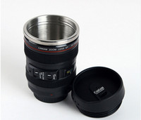 Wholesale New Coffee Lens Emulation Camera Mug Cup Beer Cup Wine Cup Without Lid Black Plastic Cup Caniam Logo ML thermos
