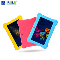 "Quad Core Android 4.4 1GB Wholesale- iRULU Y1 7"" Quad Core Android BabyPad For Kids Education Tablet PC for Children Dual Cam 8GB Learn Grow Play With Case Gift Hot"