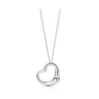Wholesale 2016 New Popular High end Jewelry Silver Jewelry Necklace Silver Plated Heart Pendant Necklace x2