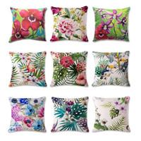 animal print throws - Wild animals Cushion Cover Flag Cotton Throw Pillow Case Superhero Pillowslip Pillowcase For Decor Decorative Lounge