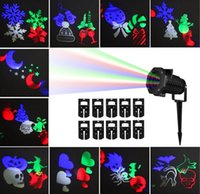 Wholesale IP65 Waterproof Snowflake Landscape Spotlight LED Christmas Projection Light Show for Patio Lawn Garden Holiday and Halloween Decorations