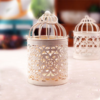 Wholesale Hollowing Out Iron Candle Holders Europe Style Creative Home Cage Patterned Metal Craft Ornaments