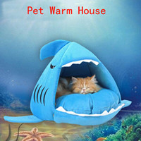 Wholesale Warm Soft Cat House Winter Pet Sleeping Bag Beautiful Shark Dog Kennel Cat Bed Puppy Small Dog Cushion Sofa pet products