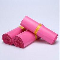 Compra Sobres de color rosa anuncio publicitario poli-100pcs los 60 * 50cm plásticos polivinílicos del envoltorio plástico que envían los sobres del bolso que envían los bolsos polivinílicos fuertes de los sellos plásticos del sello