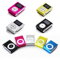 Wholesale MINI Clip MP3 Player With Inch LCD Screen Music Player Support Micro SD Card TF Slot Earphone USB Cable