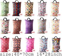 Wholesale Infant Diaper Nappy Bags Travel Diaper Cloth convenient Bag Laundry Bags Cartoon Animal Print Mummy Handbag Carrier Storage Bags cm