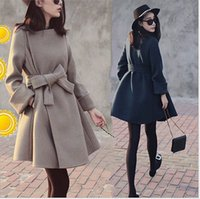 Wholesale 2016new modle parrematta Large Size Ladies Cloth Overcoat Slim Sexy Trench Coats