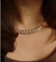 Wholesale Shining diamond dresses collarbone chain High grade short necklace Austrian crystal sweater chain