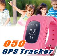 Q50 GPS Tracker pour Enfant Kid Smart Watch SOS Safe Appelez Localisateur d'Emplacement Locator Trackers SmartWatch pour Enfants Enfants Anti Lost Monitor