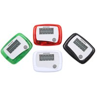 Wholesale Outdoor Waterproof Movement Calories Step Counter Multi Function Pedometer LCD Consumer Electronics Hiking Jogging Passometer