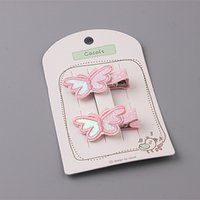 baby dee - 20Pairs Solid Embroidery Cartoon Animals Baby Girls Hairpins Fashion Cute Butterfly Chicken Candy Dee Snail Baby Infant Hair Clips