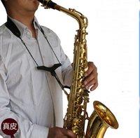 Wholesale Sax strap belt Sax leather neck belt Sax plays accessories