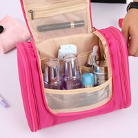 Fabric overnight travel bags - Cosmetic Bag Makeup Towel Storage Box Outdoor Large Capacity Wash Bags Travel Overnight Essential Waterproof Finishing Case sj F