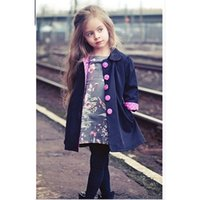 Wholesale Dust Coat Children S Small And Medium Sized New Children S Wear Long Sleeve Cardigan Coat Of The Girls Spring And Autumn