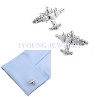 Cuff Links airplane designer - Novelty Airplane Fighter Designer Cufflinks Plain Smooth Metal Cuff Link Sleeve Nails Steel Plated Men Buttons Business Party Wedding Gift
