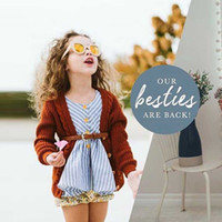Stripe ceinture bleu Summer Baby Girls Robes Toddler Girls rayé sans manches en coton Dress Outfit Bébé Belle cadeau Baby Daily vêtements