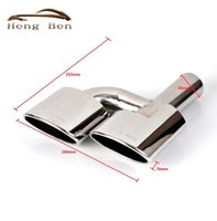 Wholesale HB Stainless Steel Pipe Exhaust Pipe Mufflers Tip For Mercedes Benz AMG C63 C65 W204