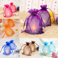Wedding beautiful wrapping paper - Solid Color Sheer Organza beautiful ORGANZA GIFT BAGS Wedding Decoration Party Favour Packing cm cm cm