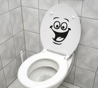 face art decor sticker - Innovation Smiley Face WC Toilet Decal Wall Mural Art Decor Funny Bathroom Sticker Vinyl