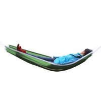 Wholesale Brand Outdoor Leisure Single Hammock Super Light Portable Camping Swing High Quality Parachute Cloth SuItable For Dormitory