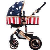 Wholesale deluxe suspension baby stroller high landscape for the new baby sit lie folding the stroller and four wheels