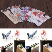 Wholesale X Butterfly Creative Bookmarks Cartoon Book Marks Paper Clip Office School Gift New