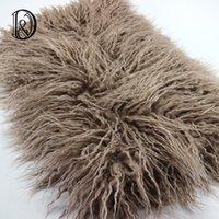 Wholesale cm Faux Fur MONGOLIAN FUR Blanket Basket Stuffer Photography Props Newborn Photography Props