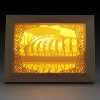 achat en gros de cadres numériques personnalisés-Led porte-ombre fantôme personnalisée porte conduit cadre décoratif lumière photo numérique