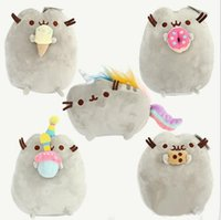 Wholesale Pusheen Cat Soft Dolls Hot Sale Style cm Pusheen Cookie Icecream Doughnut Rainbow Cat Plush Doll Stuffed Toys Child Gifts