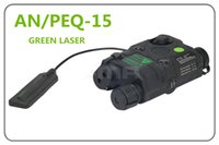 Nouvelle version de mise à niveau tactique AN / PEQ-15 Laser vert avec lampe de poche blanche torche illuminateur IR pour la chasse airsoft Bk / DE