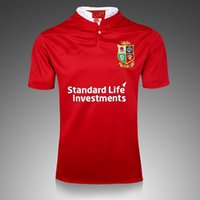 Wholesale 2016 british Irish lions red ireland rugby jerseys new soccer jersey high quality s xl mens shirt