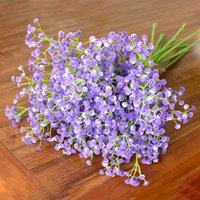Wholesale Simulation flower babysbreath home interior flower plastic flower blossom flower wedding flower hand holding flowers