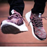 al por mayor zapatos clara-17 Ultra Boost Uncaged Tejer Sólido claro púrpura blanco Calcetines Ultra Boost Flywire Zapatos Mujer Zapatillas de deporte y Hombre zapatillas 36-44