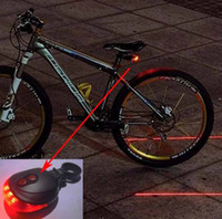 Wholesale Waterproof Bicycle light Laser Tail Bike Safety Red Rear Warning Light Cycling Safety Caution Lamp Lasers LEDs