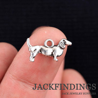 Wholesale mm new fashion antique silver plated handmade charms Pendant dog