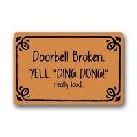 bedroom doorbell - CHARM HOME Funny Doorbell Broken Yell Ding Dong Really Loud PatternIndoor or Outdoor Door Mat Doormat23 quot L x quot W