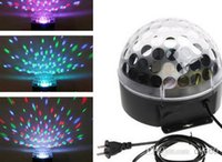 Wholesale DMX512 Mini LED Stage DJ Light RGB full color Crystal Magic Ball Effect light CH DMX Disco Party Stage Lighting projector