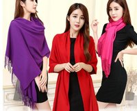 Wholesale The story of Shanghai female Korean new autumn and Winter Scarf pure cashmere scarves fringed shawl thickened Ms