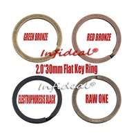 Wholesale In business flat key ring Bronze plated keyring keychain key chain key accessories mm ALL SIZES flat ring