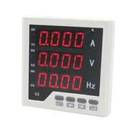 Wholesale ME UIF33 mm AC V LED digital voltage ampere and frequency combined meter for electrical use