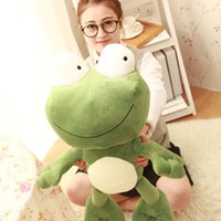 achat en gros de grenouille géante-1pcs 70CM Big Plush Cute Frog Giant Large Stuffed Soft Peluche Toy Doll Pillow