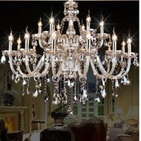 Wholesale Luxury Crystal chandelier Living Room lustre sala de cristal modern Chandelier lighting bedroom crystal light Chandelier
