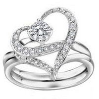 wedding rings gold filledplated crystal rhinestone romantic silver plated cz crystal made with - Wedding Ring Prices