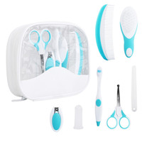 Wholesale Baby Grooming Care Manicure Set Healthcare kit Nail Clipper Toothbrush Hairbrush Comb Emery Board Nail Scissor