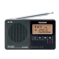 Wholesale TECSUN PL DSP FM Radio Portable Professional Radio Receiver ETM Clock Alarm with LCD Screen