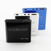 Vente en gros Full HD multimédia Media Player 1080P TV HDMI YPbPr USB AV SDHC MKV AV RM RMVB AVEC adaptateur voiture adaptateur Livraison gratuite!
