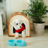 cat litter - Do You Treasure Bamboo Weaving Kennel The Cat Litter House Pets Articles Summer Bamboo Weaving Pets Nest